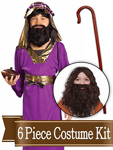 (BirthdayExpress Wiseman Biblical Easter Nativity Child Costume Kit - Small)