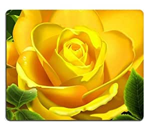 Macro Shot Yellow Rose bright petals nature flowers green Mouse Pads Customized Made to Order Support Ready 9 7/8 Inch (250mm) X 7 7/8 Inch (200mm) X 1/16 Inch (2mm) High Quality Eco Friendly Cloth with Neoprene Rubber Liil Mouse Pad Desktop Mousepad Laptop Mousepads Comfortable Computer Mouse Mat Cute Gaming Mouse_pad