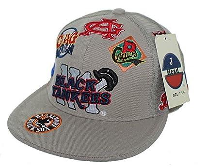 NEW NY Black Yankees Negro League Baseball Fitted Hat Embroidered Mesh Back  Cap - Khaki ( 05384b09d24