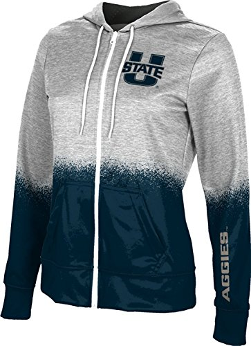 (ProSphere Utah State University Women's Zipper Hoodie, School Spirit Sweatshirt (Spray Over) FEBB )