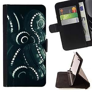 For Apple iPhone 5C Case , Ciencia Ficción Extranjero Ingeniería Espacial- la tarjeta de Crédito Slots PU Funda de cuero Monedero caso cubierta de piel