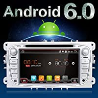 Android 6.0 Quad-Core Wifi Model 7 Full touch-screen Ford Focus Car DVD CD player GPS 2 din Stereo GPS Navigation free camera,canbus Color Sliver