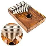 #7: Luvay Kalimba Thumb Piano Mbira 17 keys, Music Book Included (Solid KOA Wood)