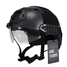 OneTigris Multifunctional Tactical Helmet Airsoft Paintball Fast Helmet with Protect Goggles