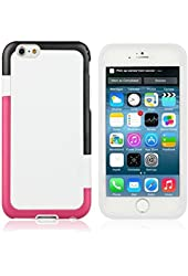 "iPhone 6 Case , Multi-Colored TPU Case, (4.7""), AT&T Verizon Sprint T-Mobile and All Carriers, Retail Packaging, White"
