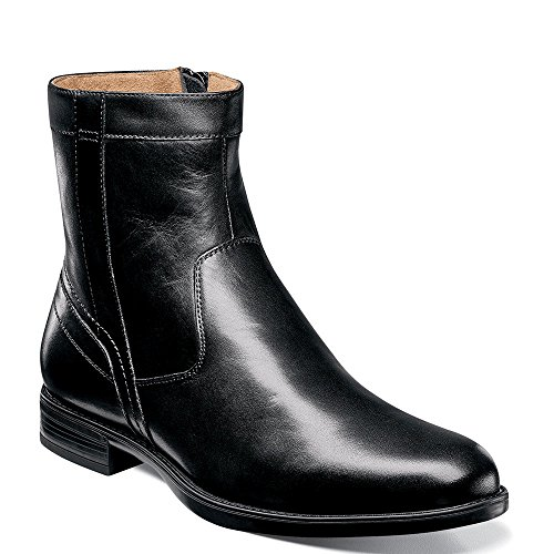 Florsheim Men's Midtown Plain Toe Zip Boot Black Smooth 9 D US
