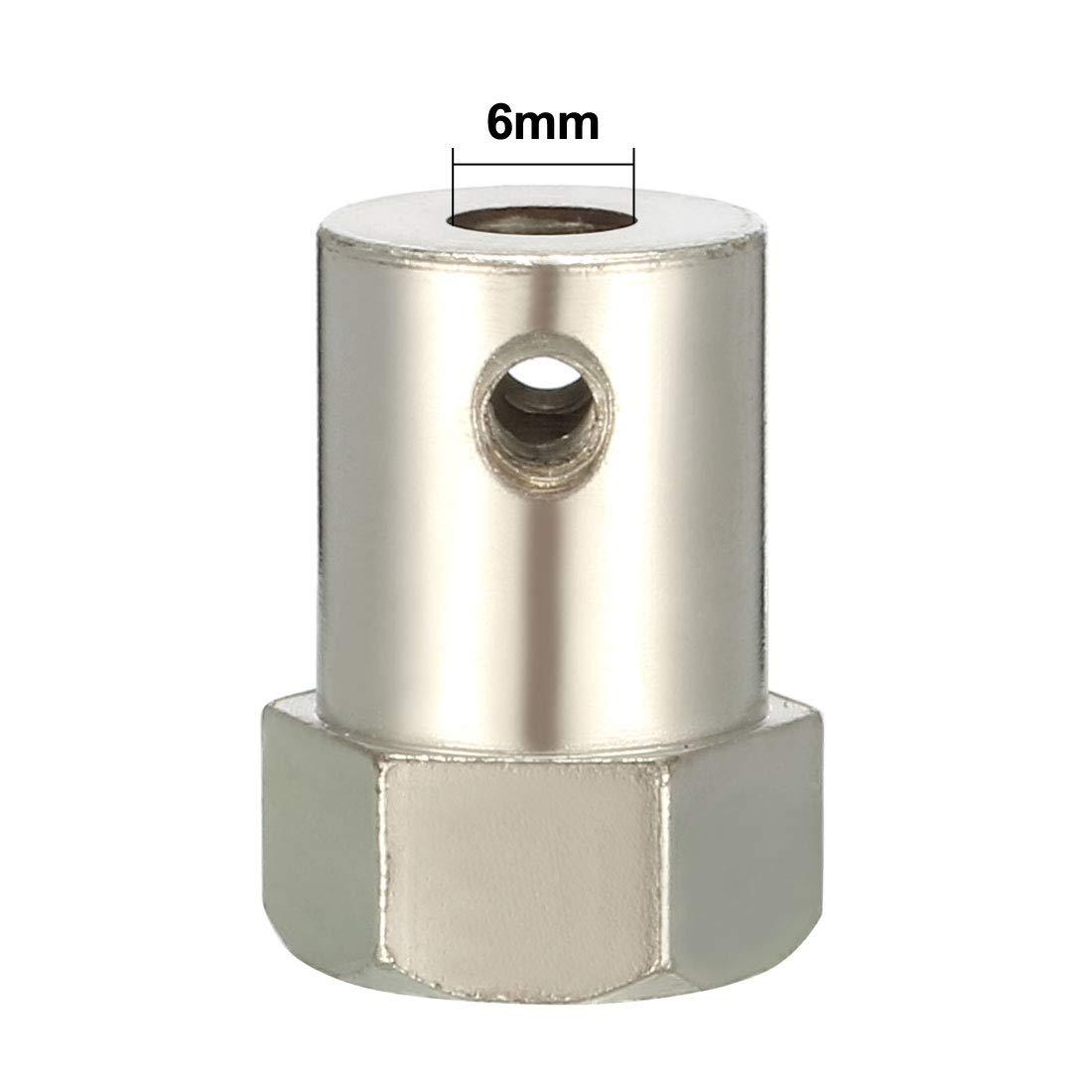 Sourcingmap Conector de acoplamiento hexagonal para rueda de motor de robot con tornillos