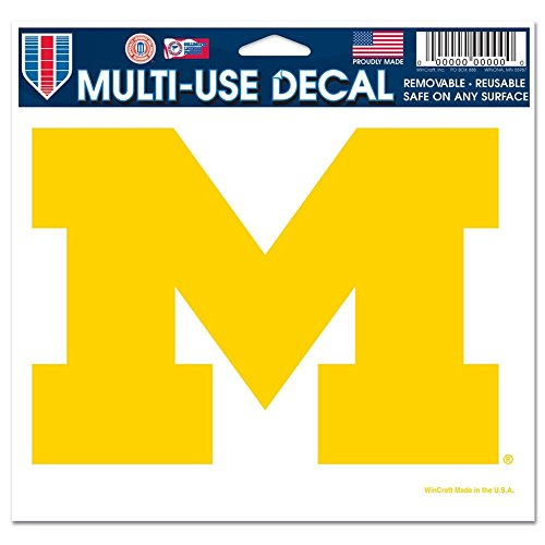 MICHIGAN WOLVERINES OFFICIAL LOGO 4X6 ULTRA DECAL WINDOW