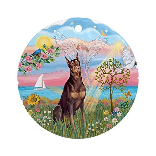 Used, Angelstar-Red Doberman Novelty Round Christmas Ornaments for sale  Delivered anywhere in Canada