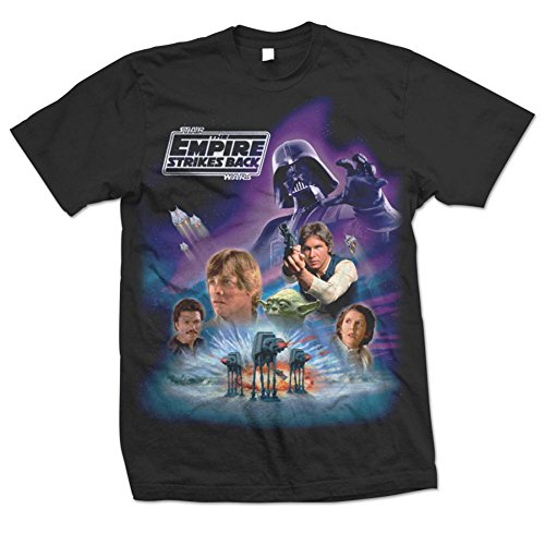 Star Wars EP V The Empire Strikes Back Official Printed T-Shirt - Tesb Montage (Small, Black)