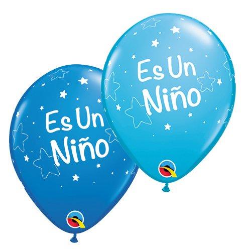 Qualatex Latex Balloons 43404-Q Es Un Nino Lil Stars 11 Multicolor
