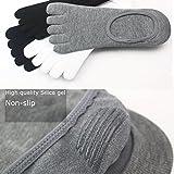 Toe Socks NO Show Cotton Five Fingers Crew Ankle