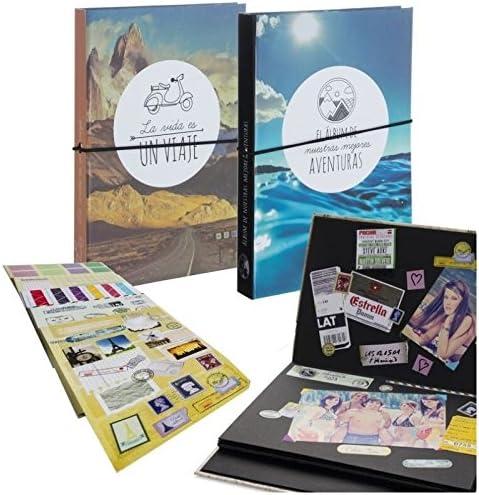 Dcasa - Pack 2 Album Fotos Scrapbook con Stickers para Hacer tu Propio Album Scrapbooking: Amazon.es: Hogar