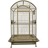 KING'S CAGES 9004030 PARROT CAGE Dome Top Bird Cage With New Locks toy toys Macaws cockatiel parakeet (SANDSTONE)