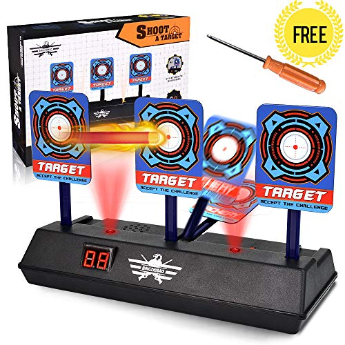 UMIKU Toy Guns Target Auto Rising Auto Target for Shooting Electric Digital 3D Sound Bow and Arrow Target Girls Boys Toys (Dart Board Arrow)