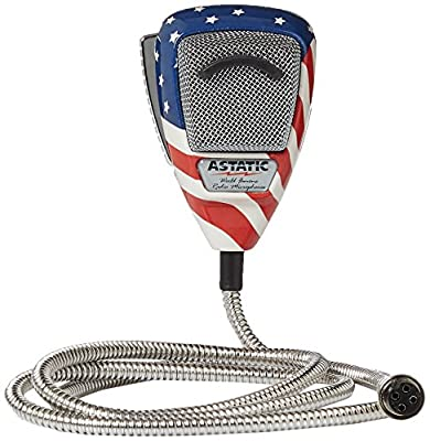 Astatic 302-10309 Stars N' Stripes Noise Canceling 4-Pin CB Microphone from Astatic