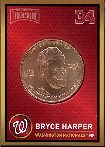 Bryce Harper 2018 Baseball Treasure MLB Coins Copper Nationals FD3202 (2018 Baseball Coin)