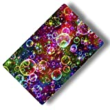 Custom & Decorative {16'' x 10'' Inch} 1 Single, Large ''Gaming'' Flexible Non-Slip Mousepad for Gaming, Made Of Easy-Glide Neoprene w/ Neon Bright Rainbow Multiple Bubbles Pretty [Multicolor]