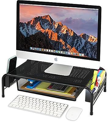Desk Monitor Stand Riser with Organizer Drawer