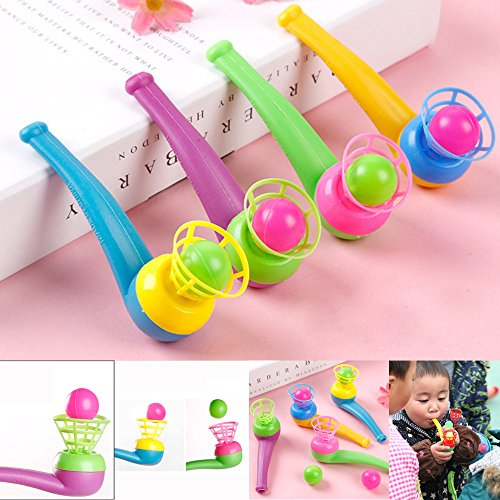 Fullwei Blow Pipe & Balls - Fun Balls- Pinata Filler Toy Loot/Party Bag Fillers Wedding/Kids -Carnival Prizes -Reduce Stress Increase Focus -Makes an Excellent Party Favor Item (Random) ()