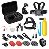 Basic Common Action Camera Outdoor Sports Accessories Kit for Gopro Hero 6/fusion/5/Session/4/3/2/HD/HERO+ SJ4000/5000/6000/Xiaomi Yi/AKASO/APEMAN/DBPOWER/Sony Sports DV and More