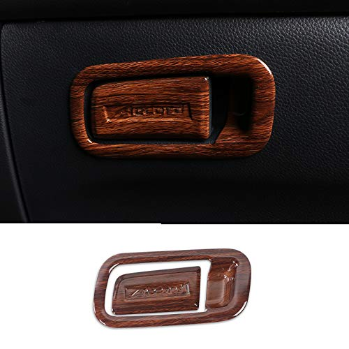 Aucycle 2PCS Peach Wood Grain ABS Interior Storage Box Door Handle Cover Trim for Honda Accord 2018