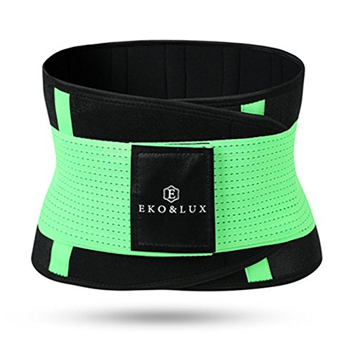 Hourglass Shape Slimming Belts Waist Trainer Corsets Body Shapers Xtreme Power Belts Waist Cincher Modeling Straps (M, Green)