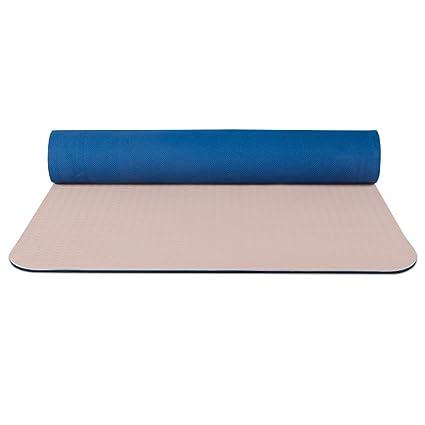 Amazon.com: Portable Yoga mat, TPE Non-Slip Yoga mat ...