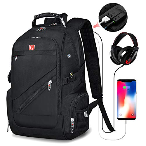 Travel-Laptop Backpack,Business Anti Theft Travel Backpack with USB Charging Port andHeadphone Interface,Water Resistant College School Computer Bag for Women& Men Fits 15.6 inch Laptop Notebook