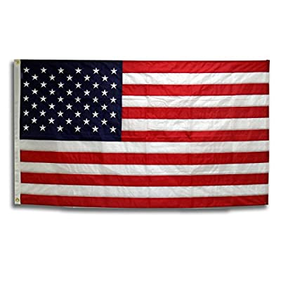3x5 American Flag Certified 100% Made in the USA Long Lasting Outdoor Nylon Featuring Embroidered Stars and Lock Stitched Sewn Stripes …