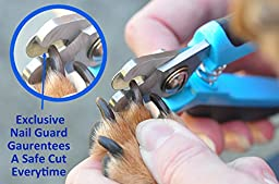 Dog & Cat Nail Clipper/Trimmer. New Sharp Stainless Steel Cutting Blades. Includes Safety Guard and Ergonomic Soft Grip Sturdy Handles. Ideal Grooming for all Pets. Professional Quality