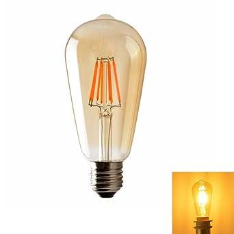 E27 Retro Edison la bombilla LED filamento Vintage Bombilla Lámpara Blanco Cálido 2700 – 3000 K