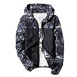 Men Camouflage Windbreaker Waterproof Rain Jacket