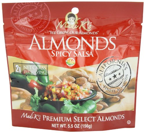 Madi K's Spicy Salsa Almonds, 5.5-Ounce Pouches (Pack of - Salsa Chocolate