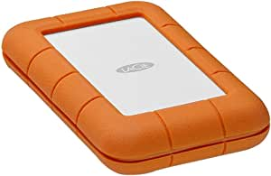 LaCie 2TB Rugged Thunderbolt USB-C External Hard Drive, Orange