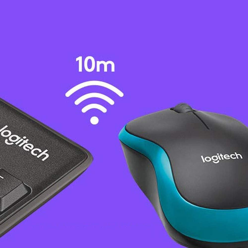Full Sized Keyboard 2.4 GHz Wireless Long Range Wireless Connection Wireless Keyboard and Mouse Combo Rechargeable