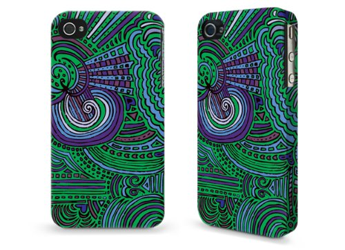 "Hülle / Case / Cover für iPhone 4 und 4s - ""Drawing Meditation Jungle Green"" by Kaitlyn Parker"