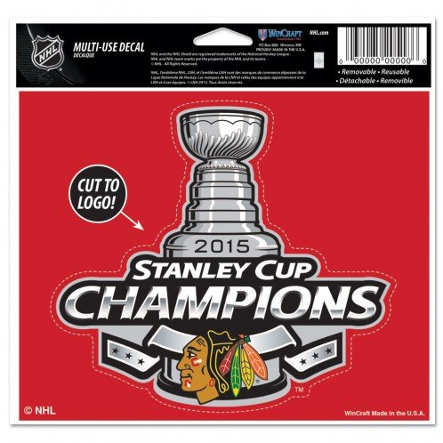 "2015 Chicago Blackhawks NHL Stanley Cup Finals Champions Multi Use Decal 5"" x 6"""