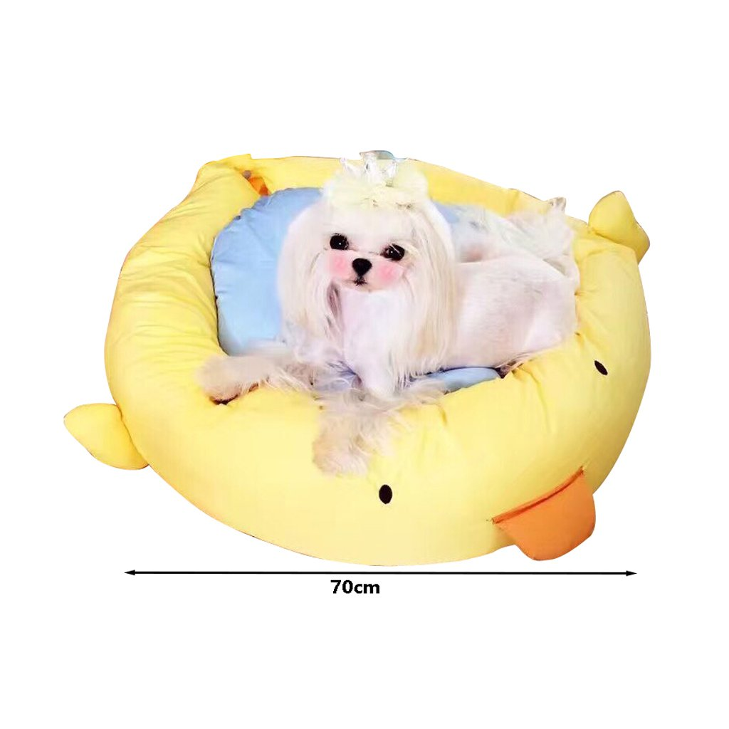 Pequeño árbol caseta de Perro Creativo del Dibujo Animado, Nido de Mascotas extraíble y Lavable, sofá de la Estera del Perro de la Cama del Gato (Size : L): ...
