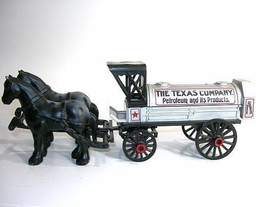 Collectible ERTL Die-Cast Horses and Tanker Coin Bank - Texaco 8th in Series by ERTL (Tanker Bank)