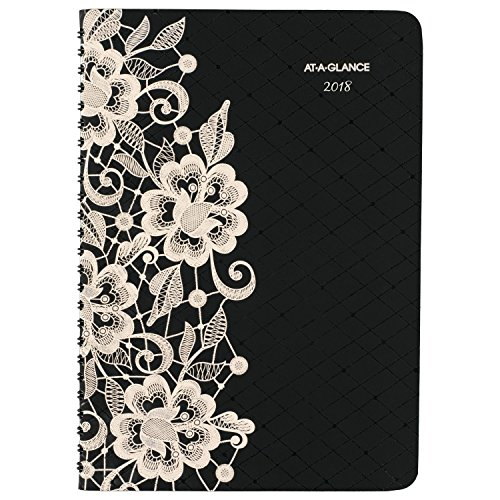 "AT-A-GLANCE Weekly / Monthly Planner, January 2018 - January 2019, 5-1/2"" x 8-1/2"", Lacey (541-200)"