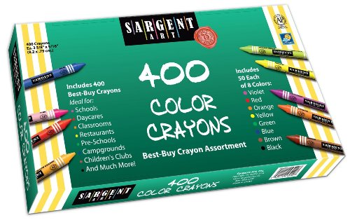 3 x Sargent Art 55-3220 Best-Buy Assortment Crayon 3-5/8-Inch 400-Count by Sargent Art