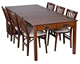 cheap dining table and chairs Stakmore Traditional Expanding Table Finish, Fruitwood