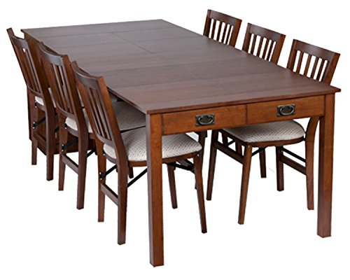Set Table Game Dining Room (Stakmore Traditional Expanding Table Finish, Fruitwood)