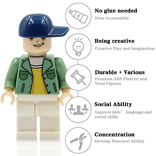 Homecoming Kids 48 Minifigures Building Bricks Community People Accessories, Building Party Toys Gift by Homecoming Kids (Image #2)