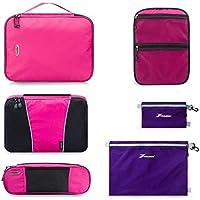 YOULERBU Packing Cubes Luggage Organizer w/ Shoe Bag 5 Set