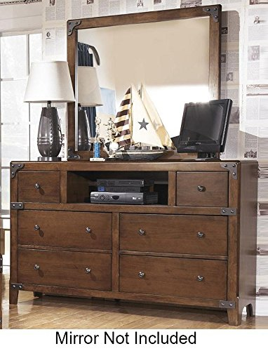 Ashley Furniture Signature Design - Delburne Dresser - 6 Drawers and 1 Cubby - Casual Youth - Medium Brown (Cheap Dresser And Mirror Set)