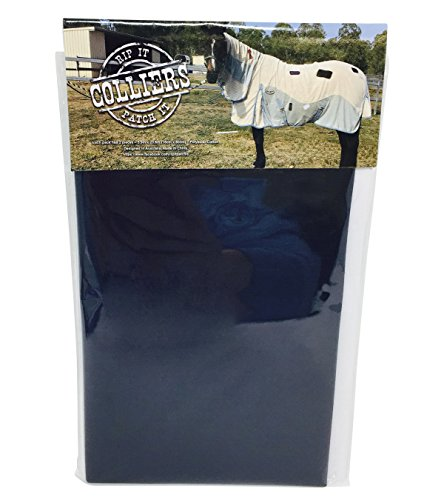 Essential Blanket Dog Coat - Colliers Rip It Patch It - Iron-on Horse Blanket Repair Patches (Navy)