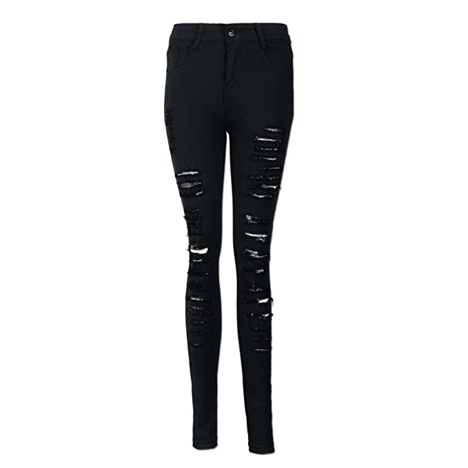 ded5c212f9 ASHOP - Jeans Donna Jeans, ASHOP Donna Strappati Sexy Skinny Jeans ...