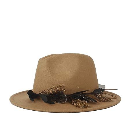 18023d5f83e HUBINGRONG Winter Panama Hat Women Elegant Felt Caps Male Vintage Trilby Hat  Wide Brim Fedora CAPS